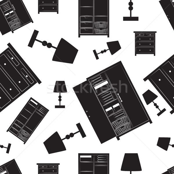 шаблон домой мебель иллюстрация Сток-фото © veralub