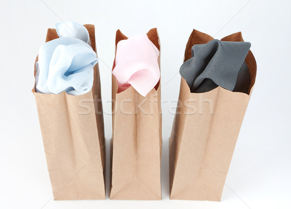 Clothes In Brown Paper Bags Stock photo © veralub