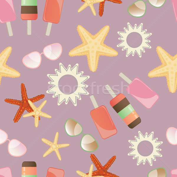 Estate sole starfish gelato occhiali da sole Foto d'archivio © veralub