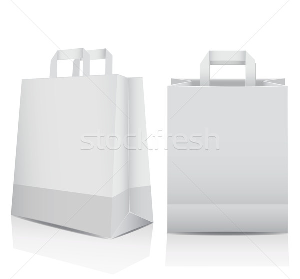 Two white shopping carrier bags Stock photo © veralub