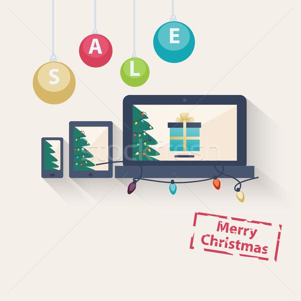 クリスマス を 販売 贈り物 ノートパソコン ストックフォト © veralub