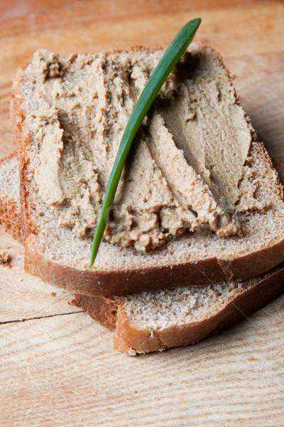Liver pate on sliced bread Stock photo © veralub