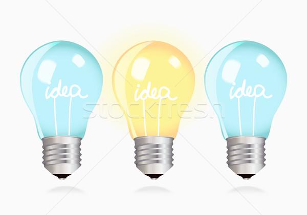 Two ordinary ideas and one creative idea Stock photo © veralub