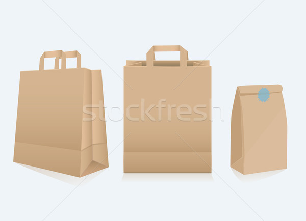 Set of three different paper bags Stock photo © veralub