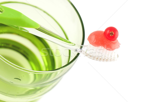 Toothbrush With Fresh Minty Toothpaste Stock photo © veralub