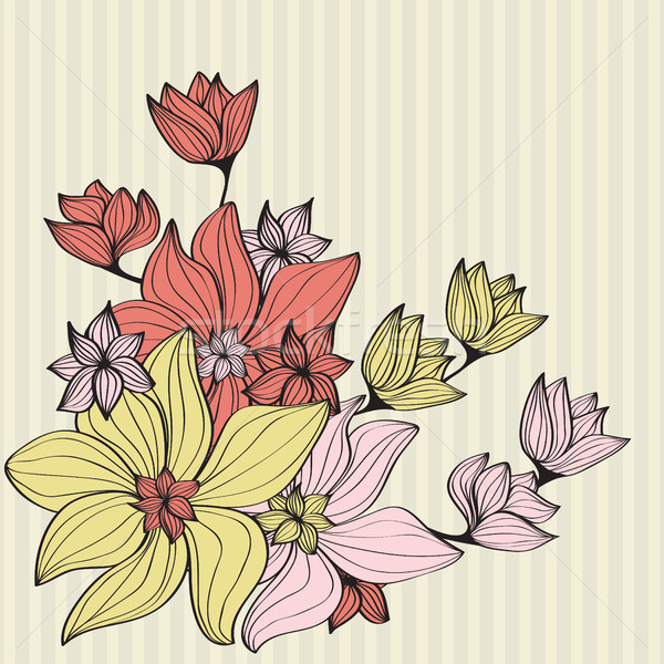 Vintage flowers in muted shades Stock photo © veralub