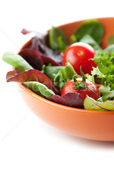 Fresh ripe tomatoes in a salad Stock photo © veralub