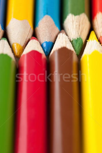 Shot colorato pastelli legno Rainbow Foto d'archivio © veralub