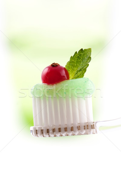 Toothbrush And Toothpaste Stock photo © veralub