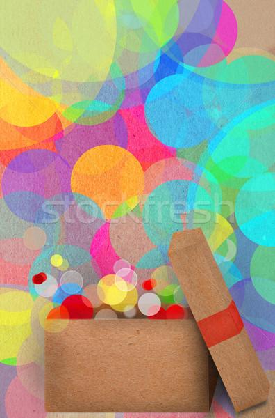 Hediye bokeh renkli parti ışıklar güzel Stok fotoğraf © veralub