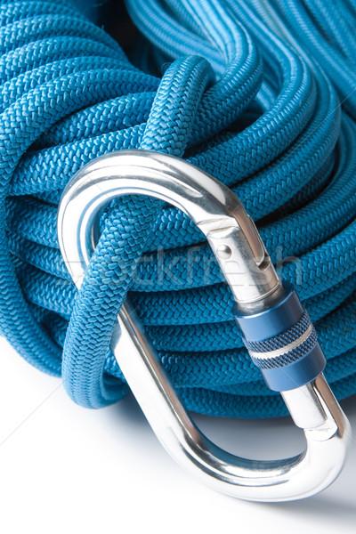 скалолазания веревку альпинизм оборудование синий Сток-фото © veralub