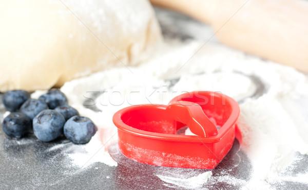Cookies Rood plastic cookie meel Stockfoto © veralub