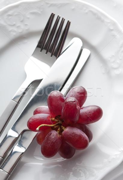 Luogo fresche uve view bianco piatto Foto d'archivio © veralub