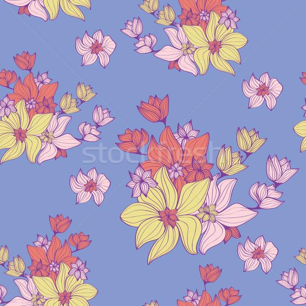 Vintage fiori bella pastello soft Foto d'archivio © veralub