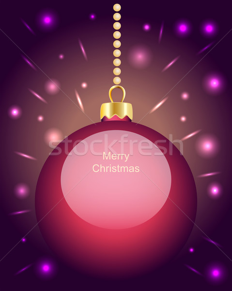 ピンク クリスマス 安物の宝石 絞首刑 ビーズ ストックフォト © veralub