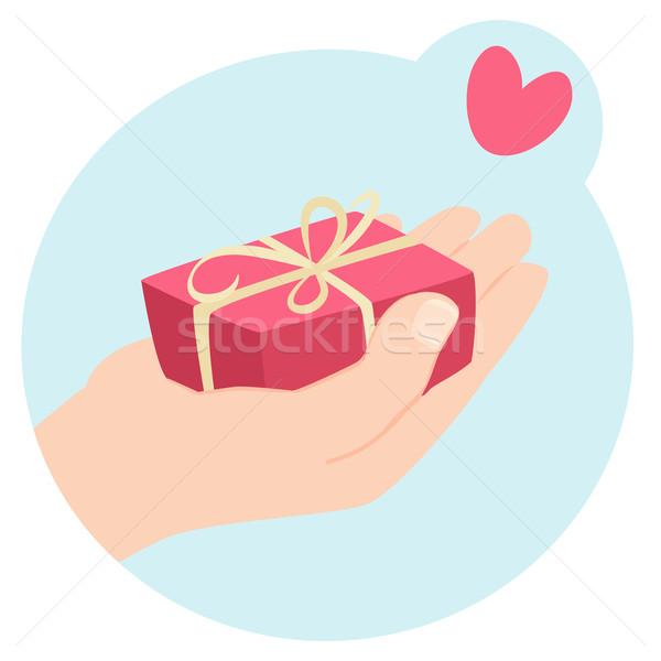 Romantica san valentino regalo cartoon mano Foto d'archivio © veralub