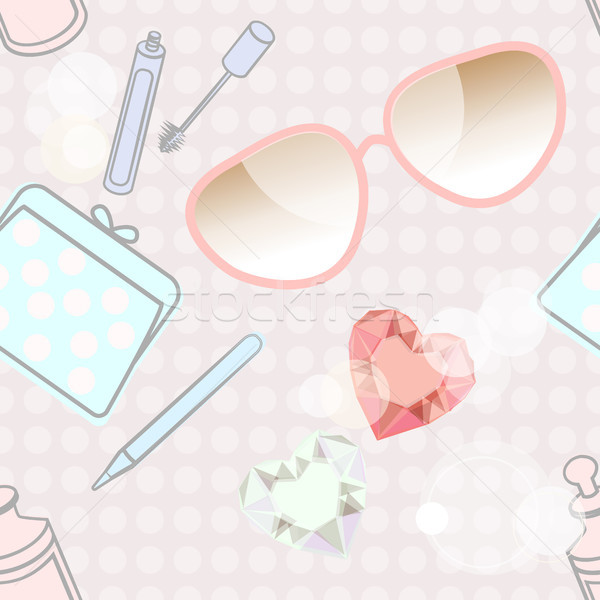Fashion accessories and cosmetics Stock photo © veralub