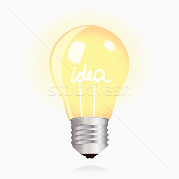 Branco amarelo mão luz Foto stock © veralub