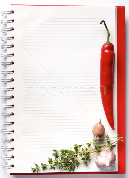 Blank notebook with fresh vegetables Stock photo © veralub