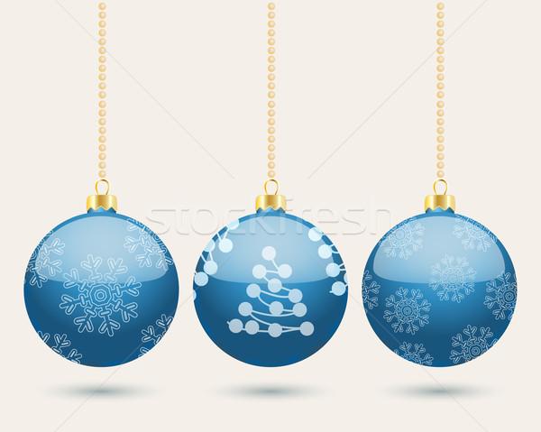 絞首刑 青 クリスマス 3 ストックフォト © veralub