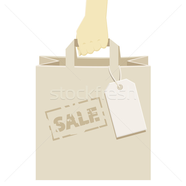 Retail shopping bag, stamped as a promotional sale Stock photo © veralub