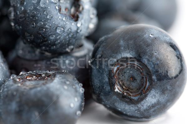 新鮮な ブルーベリー 水滴 クローズアップ フルーツ 料理 ストックフォト © veralub