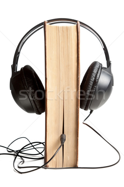 Book wired in to headphones Stock photo © veralub
