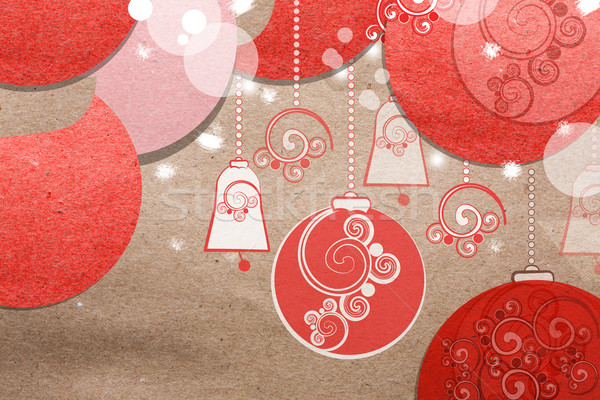 Beautiful paper Christmas collage Stock photo © veralub