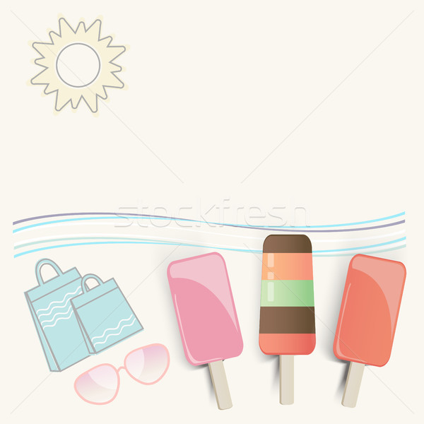 Summer ice cream at the seaside Stock photo © veralub