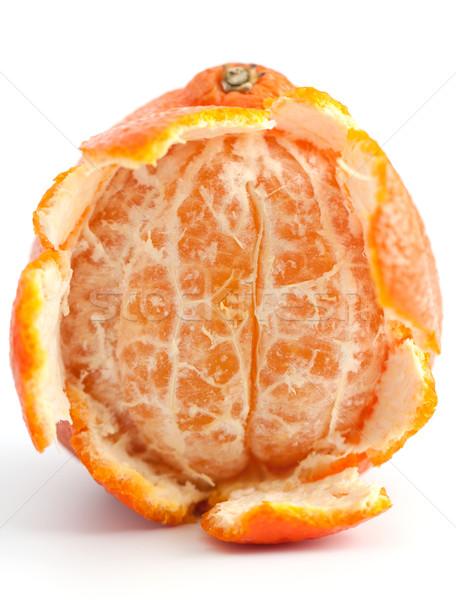 Vers mandarijn- schil vruchten Stockfoto © veralub