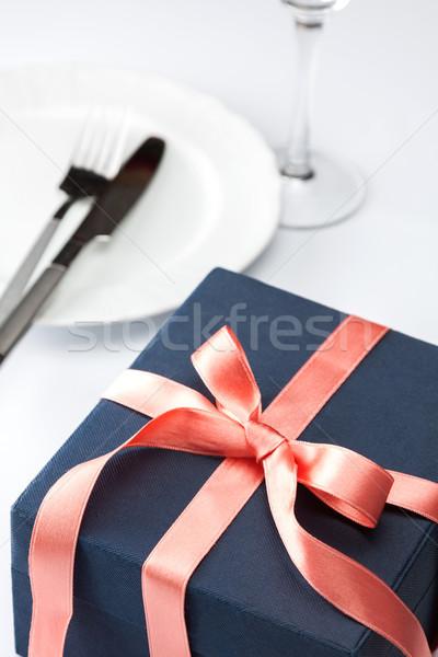 Tavola regalo view semplice Foto d'archivio © veralub