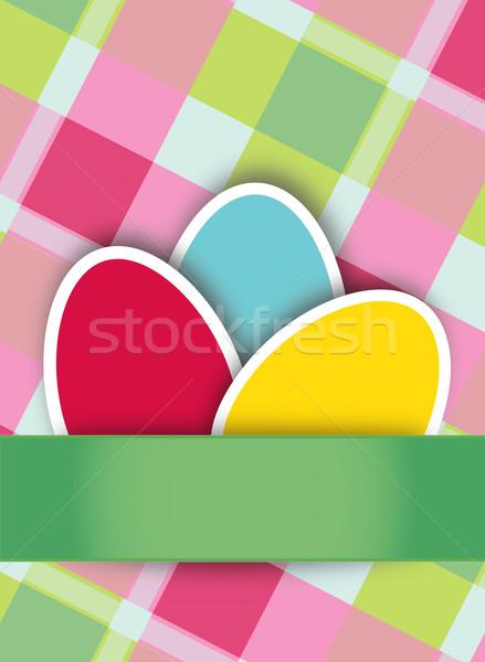 Easter eggs colorato carta Foto d'archivio © veralub