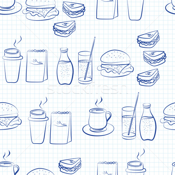 Gıda içkiler doğrusal dizayn Stok fotoğraf © veralub