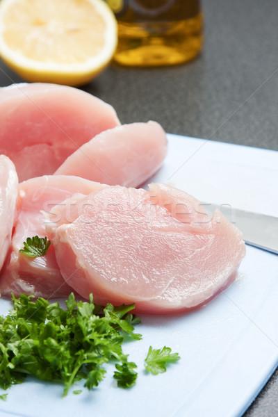Diced healthy lean chicken pieces Stock photo © veralub