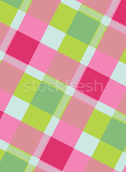 カラフル 新鮮な ピンク 緑 幾何学模様 ストックフォト © veralub