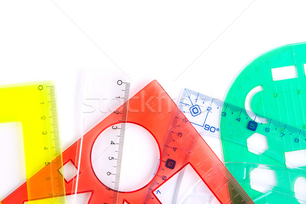 Protractors straightedges and rulers Stock photo © veralub