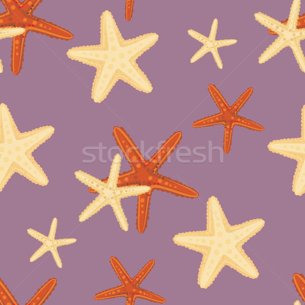 Seamless starfish pattern Stock photo © veralub