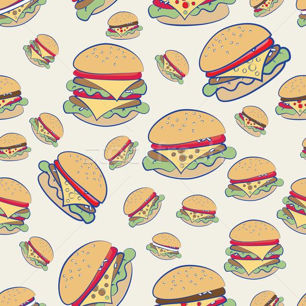 Cheeseburgers Stock photo © veralub
