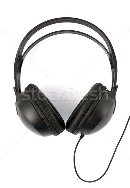 Modern kulaklık beyaz ayarlamak siyah teknoloji Stok fotoğraf © veralub