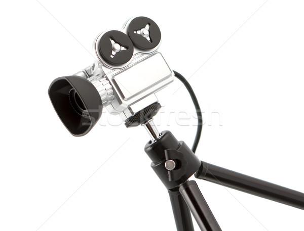 Küçük video kamera yalıtılmış beyaz televizyon Stok fotoğraf © veralub
