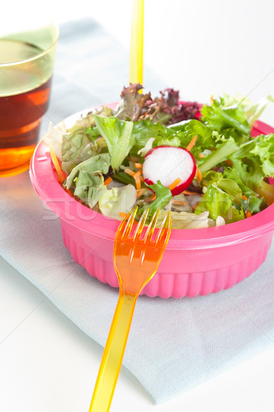Fresh leafy green salad Stock photo © veralub