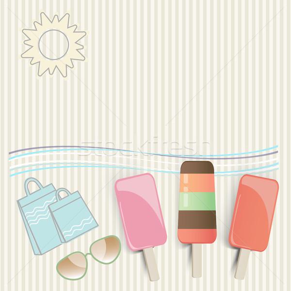 Summer ice cream at the seaside Stock photo © veralub