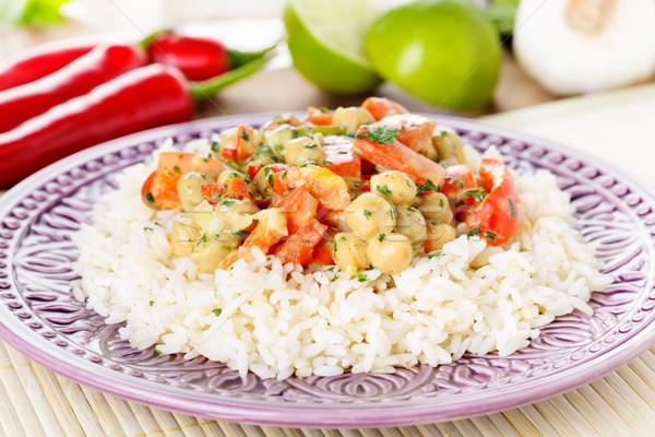 咖哩 黃色 熱 菜 辣椒 石灰 商業照片 © vertmedia