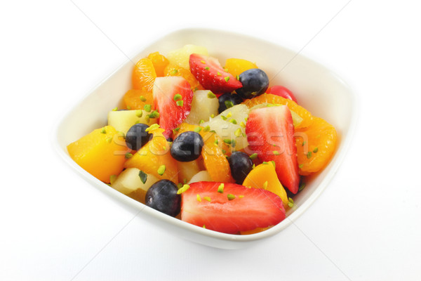 Fruits frais salade faible bol fruits cerise Photo stock © vertmedia
