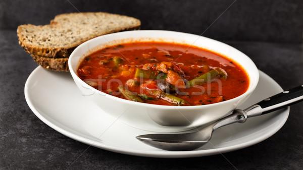 Olasz leves étel zöldségek gyógynövények étel Stock fotó © vertmedia