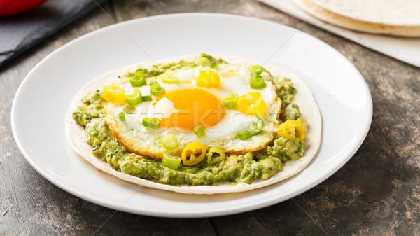 Café da manhã ensolarado lado para cima ovo Foto stock © vertmedia