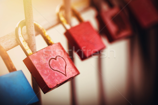 love padlocks Stock photo © vertmedia