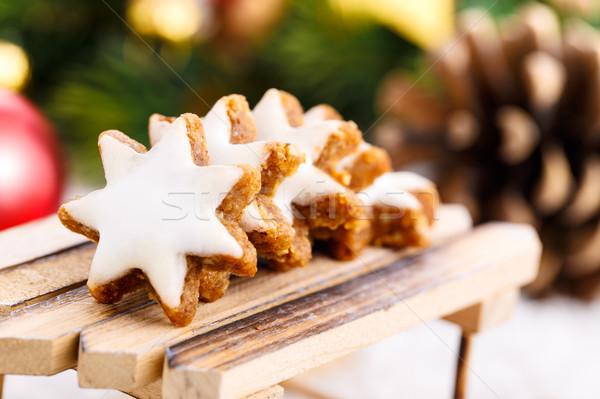 Stock photo: Xmas cinnamon cookies