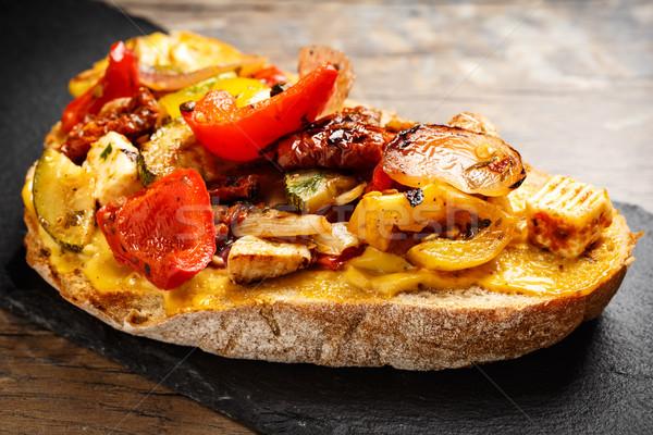 Sandwich with grilled veggies Stock photo © vertmedia