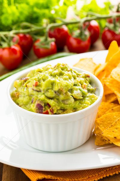 Tortilla chips frescos casero caliente verde Foto stock © vertmedia